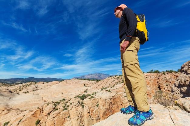 ユタ山脈でのハイキング