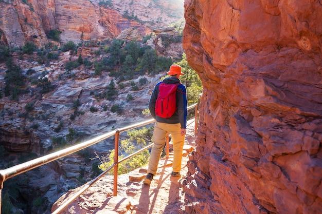 ザイオン国立公園でのハイキング