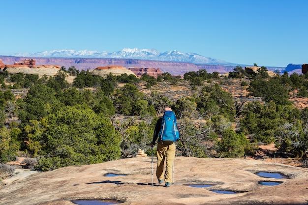 Hike in the utah mountains