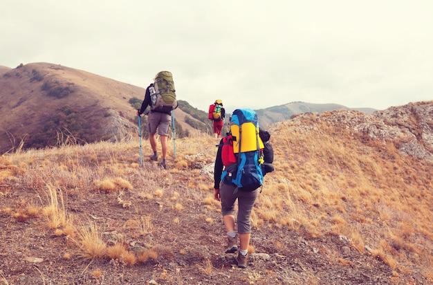 In a hike