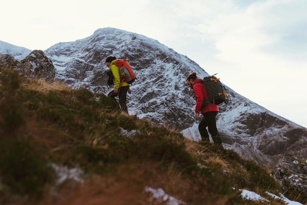 Hiker going up to ben nevis