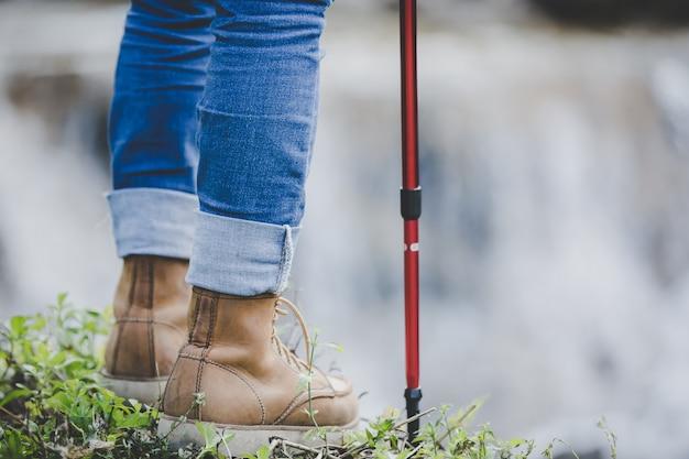 Hiking girl.