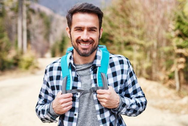 L'escursionismo è il suo più grande hobby