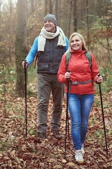 ハイキングは彼らの大きな情熱です