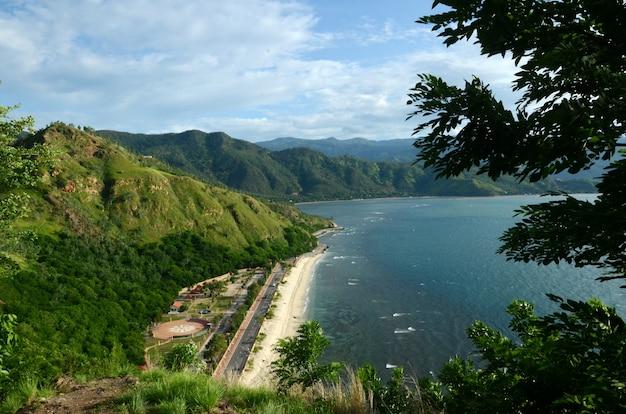 Hill and beach in timor leste Premium Photo
