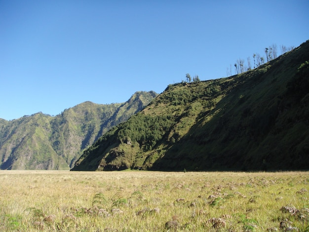Hills around bromo crater in east java, indonesia