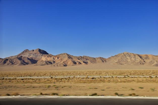 Hills on desert of iran