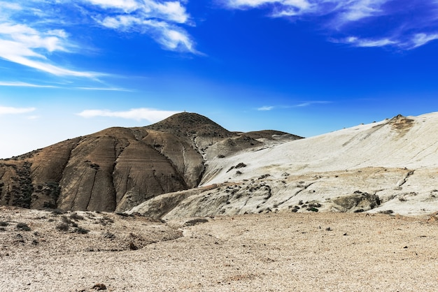 Hills of mud volcanoes