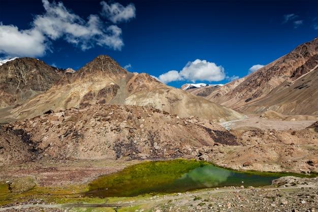 Himalayan landscape with mountain lake