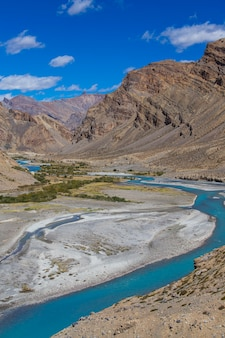 Himalayan mountain landscape along leh to manali highway in india