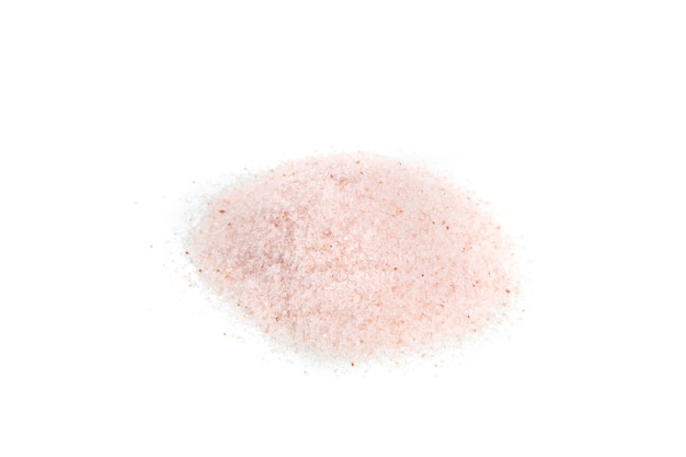 Himalayan pink salt isolated in white background