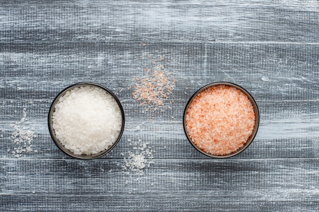 Himalayan pink salt, top view