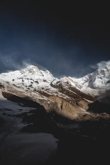 Himalayas mountain landscape in the annapurna base camp