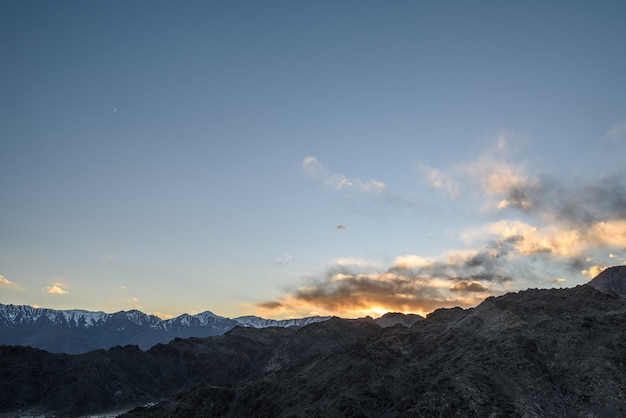 The himaraya mountain with blue sky