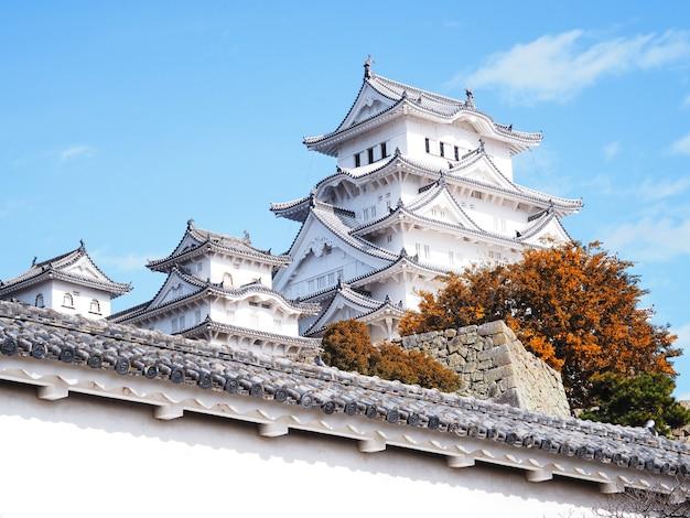 Himeji castle in autumn season, japan.