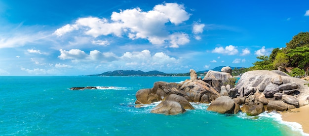 Hin ta hin ya - grandfather and grandmother rock on koh samui island, thailand