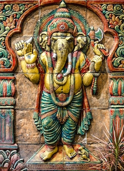 Hindu ganesha god at temple in thailand