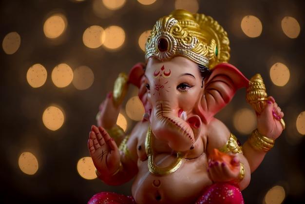 ヒンドゥー教の神ガネーシャ、ガネーシャアイドル。
