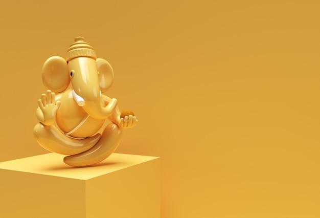 힌두교 신 코끼리 동상 - 힌두교 종교 축제 개념 코끼리. 3d 렌더링 그림입니다.
