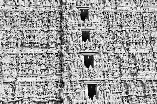 ヒンズー教の寺院のファサード