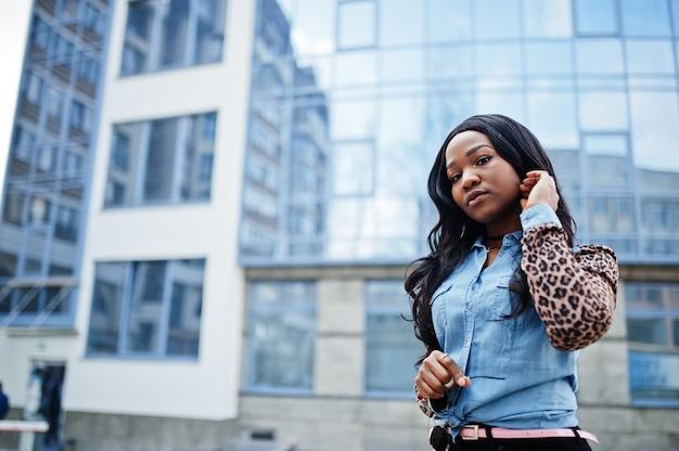 流行に敏感なアフリカ系アメリカ人の女の子