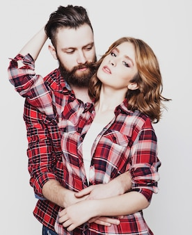 Hipster couple.