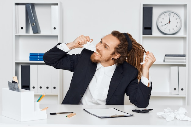 Hipster man with dreadlocks