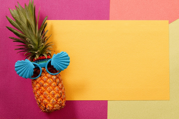 Hipster pineapple fashion accessories and fruits