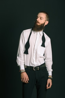 Hipster style bearded man
