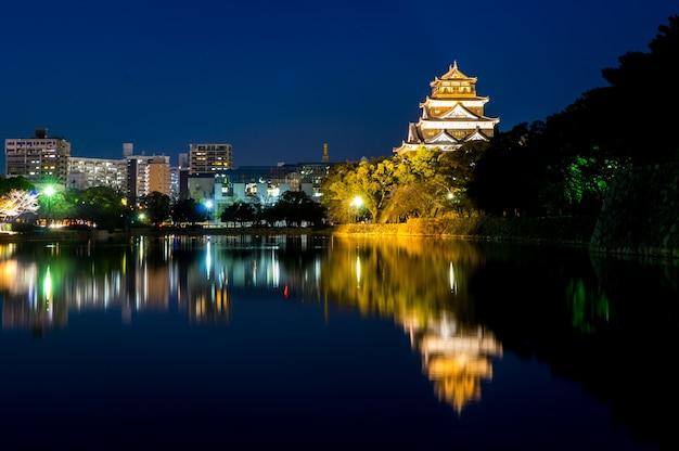 Hiroshima city light reflection