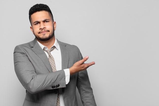 Hispanic businessman angry expression