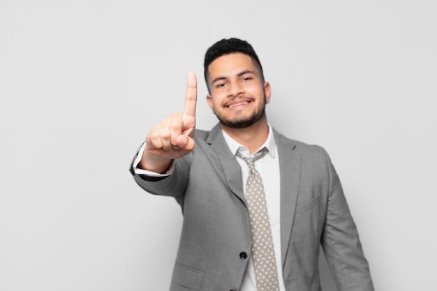 Hispanic businessman happy expression