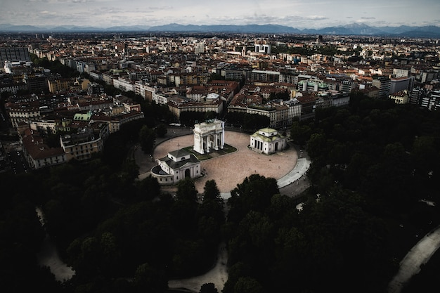 ミラノの歴史的なブランカタワー