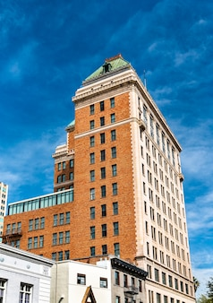 미국 캘리포니아 주 수도 인 새크라멘토 시내의 역사적인 건물