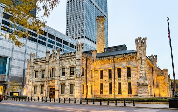Historic chicago avenue pumping station in chicago illinois, united states