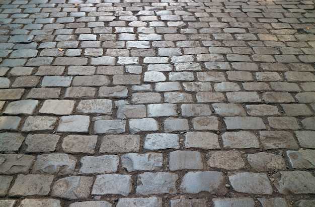 Historic cobblestone pavement