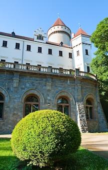 チェコ共和国の歴史的な中世のコノピステ城(中央ボヘミア、プラハ近郊)