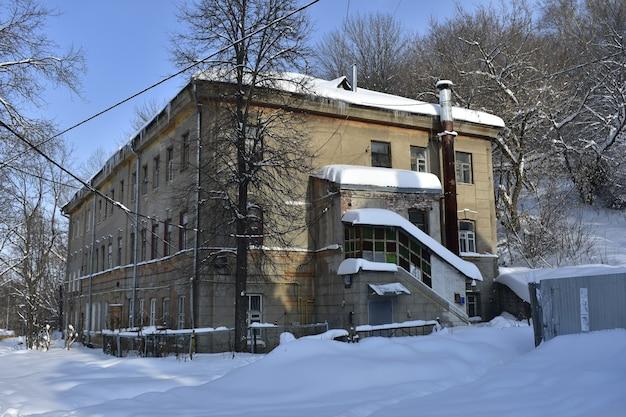 歴史的な古い家。ニジニノヴゴロド