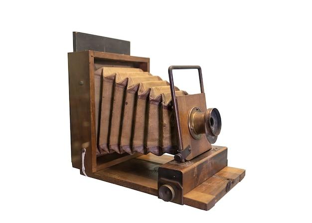 스튜디오를위한 지난 세기의 역사적인 오래된 빈티지 카르 단 카메라.