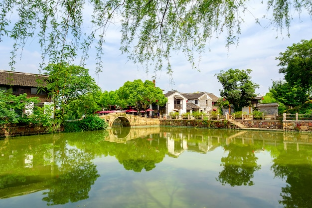 Historic scenic old town wuzhen, china