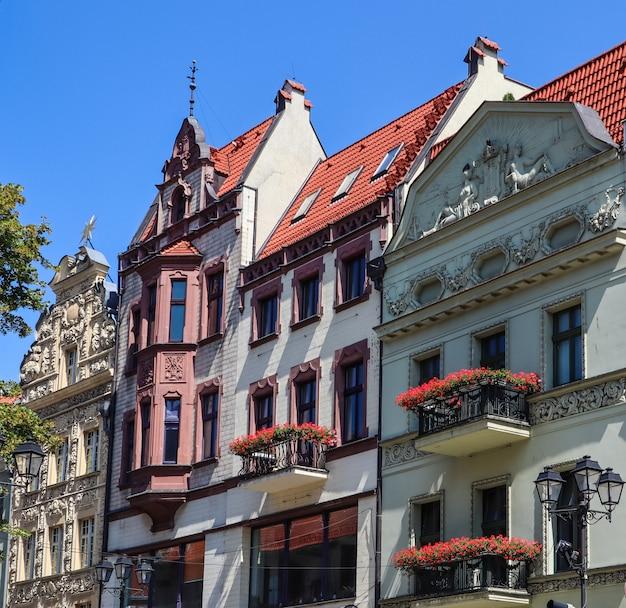 中世の町トルンポーランドの歴史的建造物8月