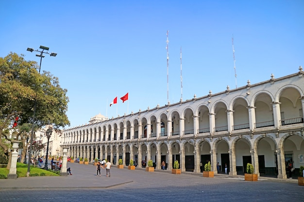 The historical center of arequipa, unesco world heritage site of arequipa city, peru
