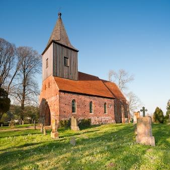 Historical german church in spring