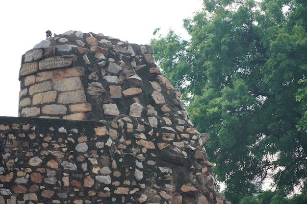 屋外の歴史的な古い石の画像