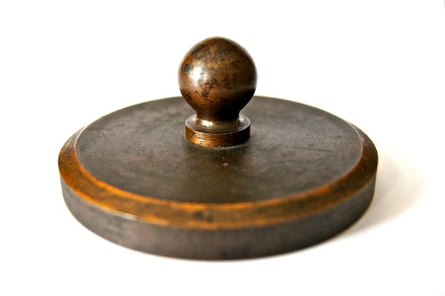 Historically paperweight letters iron old weight