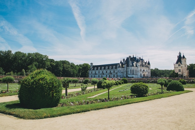 Historycal castle of chenonceau in france