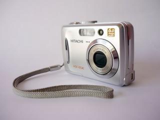Hitachi digital camera, side