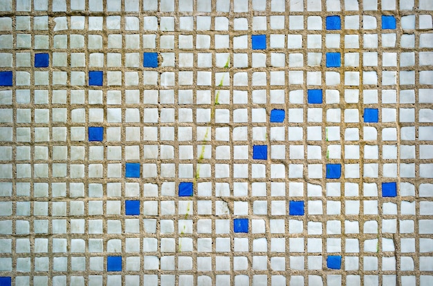 Цhite 세라믹 벽돌 타일 벽 배경 무늬