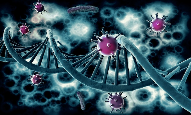 Hiv virus infects human dna