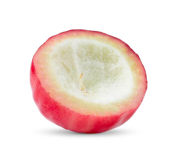 Хлаф розовое яблоко, изолированные на белой поверхности
